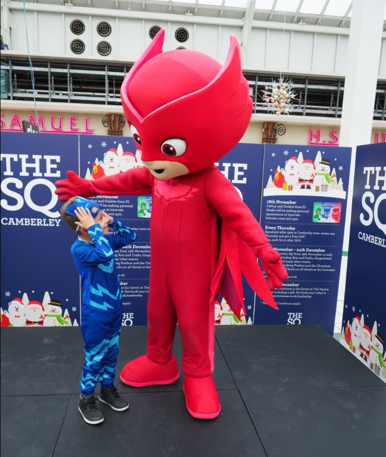 PJ Masks help to launch Christmas in Camberley