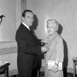 Rosette Savill 1969 receiving her Chevalier de l'Ordre National du Merite