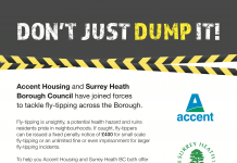 Surrey Heath Borough Council targets fly tippers