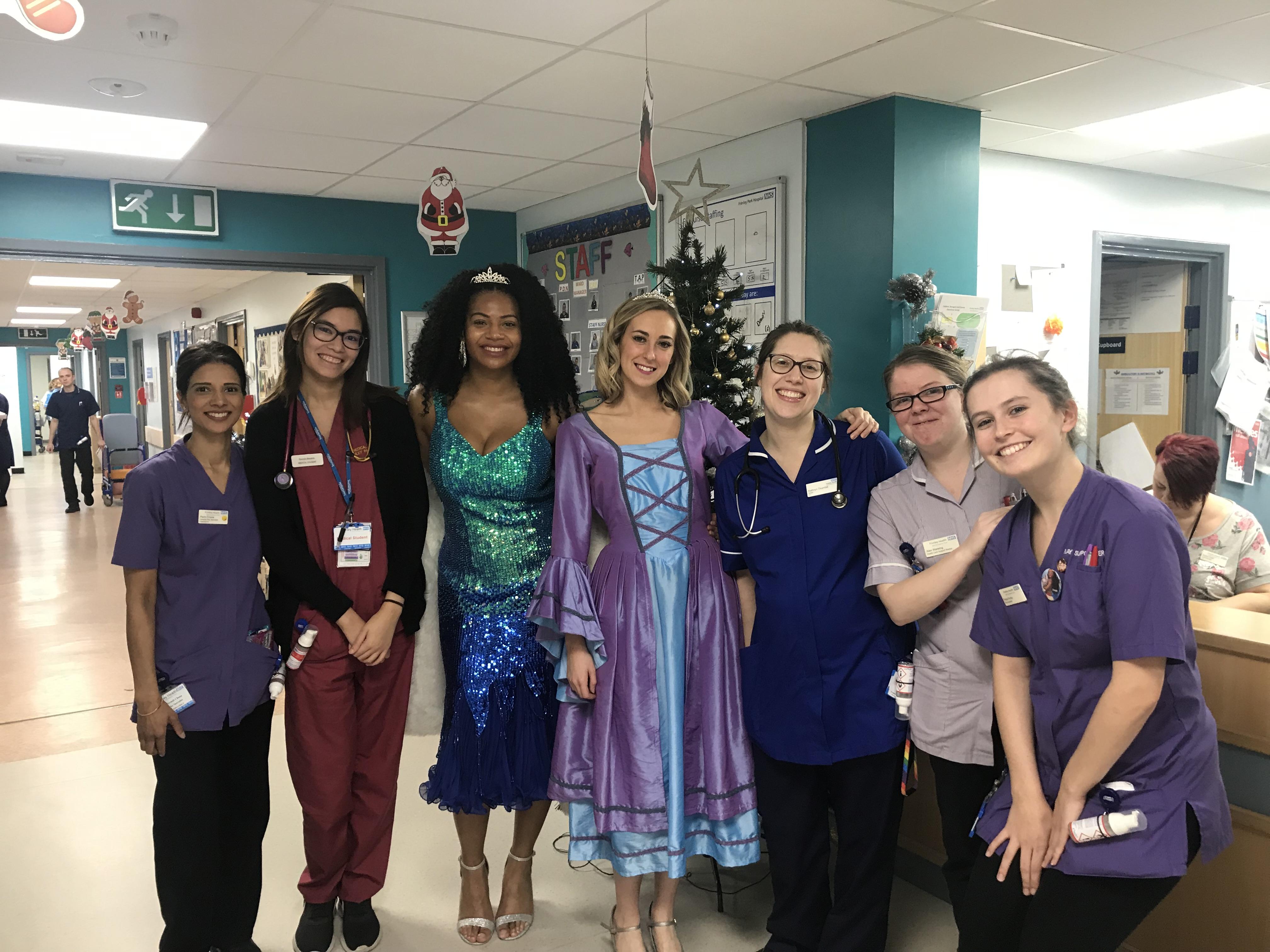 Cast of Sleeping Beauty Visit Children's Ward | Camberley Net