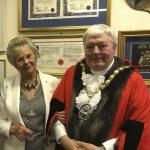 Mayor of Surrey Heath Cllr Robin Perry with the Mayoress, Jill Boxall