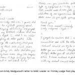 Emilys letter