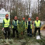 Xmas tree recycling Greenspace team at Heatherside – credit_ Alan Meeks